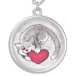 Kitty Heart Necklace