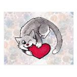 Kitty Heart Post Card