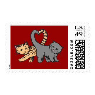 Kitty Heart Postage Stamps