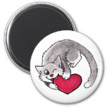 Kitty Heart Refrigerator Magnets