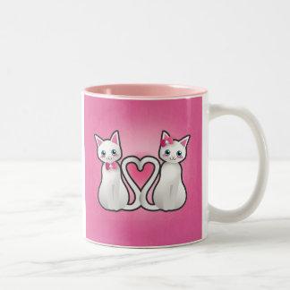 Kitty heart - silver ver - mug
