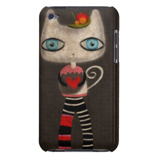 KITTY HEART SWIRL DISTRESSED CUTE BARELY THERE iPod CASE
