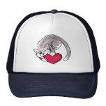 Kitty Heart Trucker Hats