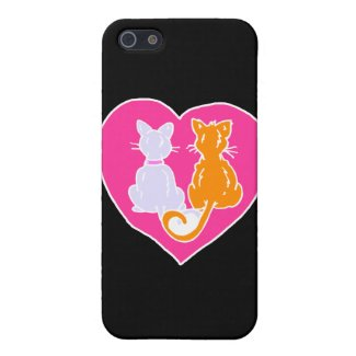 Kitty Hearts Personalized Phone Cases