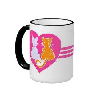 Kitty Hearts Coffee Lover Mugs