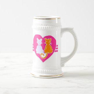 Kitty Hearts Beer Stein