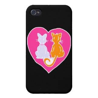Kitty Hearts Case For iPhone 4