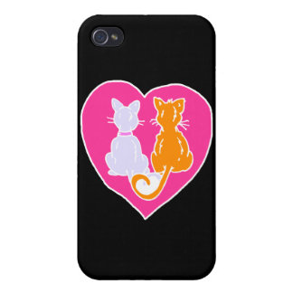 Kitty Hearts iPhone 4 Covers
