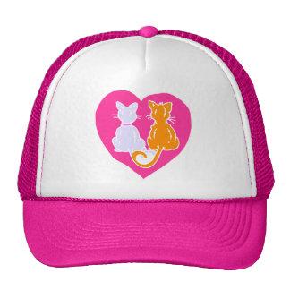 Kitty Hearts Mesh Hats