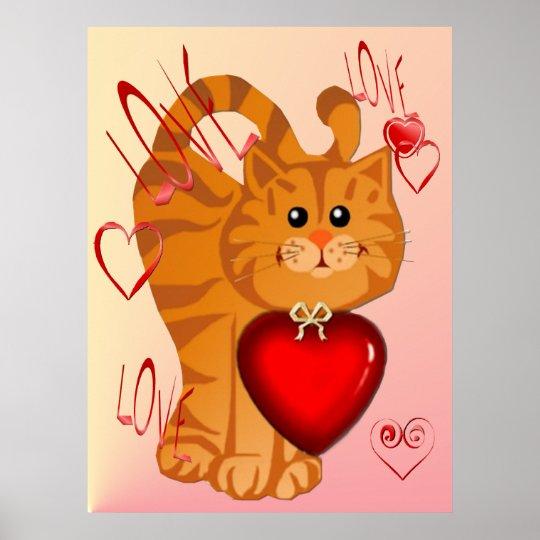 Kitty Hearts Poster