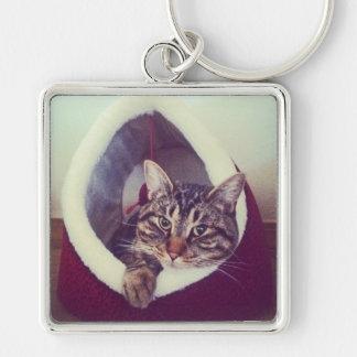 Kitty Hut Close Up Photo Key Ring Keychain