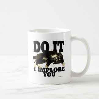 Kitty Implores You Classic White Coffee Mug