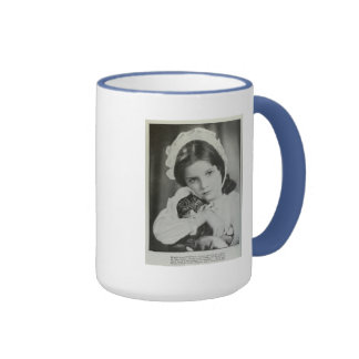Kitty in a bonnet 1935 vintage portrait mug