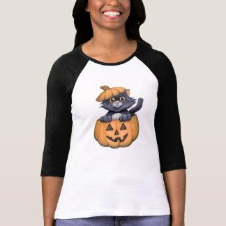 Kitty in a Pumpkin Tee Shirt