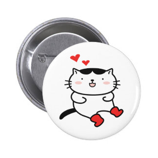 Kitty in Boots Buttons