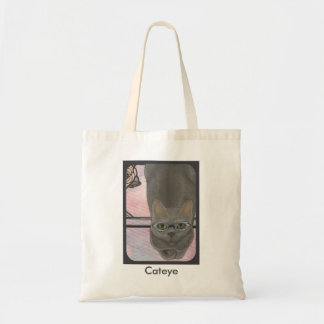 Kitty in Cateye Glasses Tote Budget Tote Bag