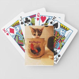 Kitty in cookie jar Card deck