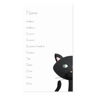 Kitty in Paris Business Card