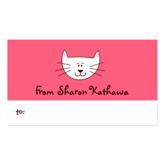 Kitty in Pink Gift Tags / Gift Enclosures Business Card