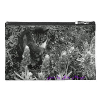 kitty in the garden travel bag travel accessory bag