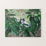 Kitty In The Leaves Jigsaw Puzzle