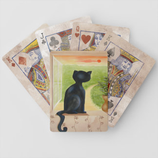 Kitty in the Window Playing Cards