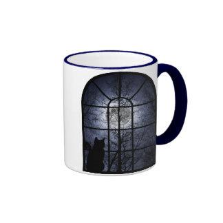 Kitty in the Window Ringer Coffee Mug