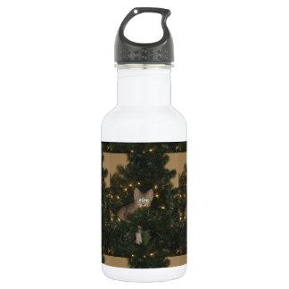 Kitty In Tree Water Bottle