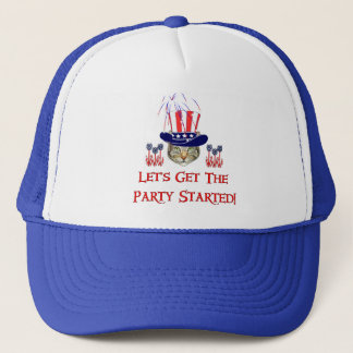 Kitty Independence Day Trucker Hat