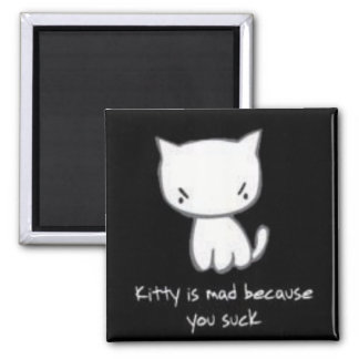 kitty is mad refrigerator magnets
