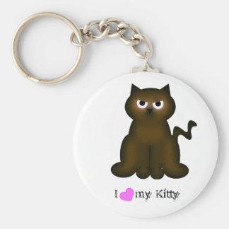Kitty Kat Collection Basic Round Button Keychain