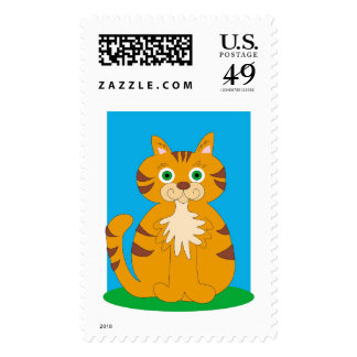 Kitty Kat Postage Stamps