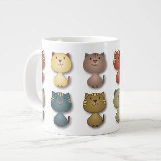 Kitty Kats Jumbo Mug 20 Oz Large Ceramic Coffee Mug