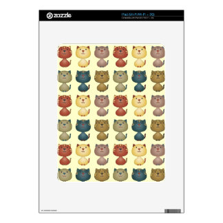 Kitty Kats Line Up Yellow Skin For iPad