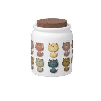 Kitty Kats Plain Candy Jar