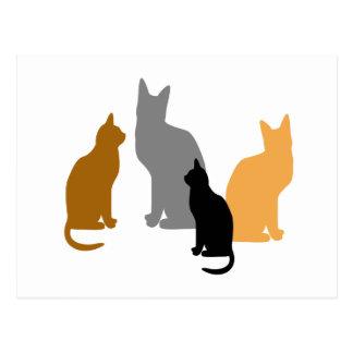 Kitty Kids Postcard