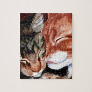 Kitty Kisses Jigsaw Puzzle