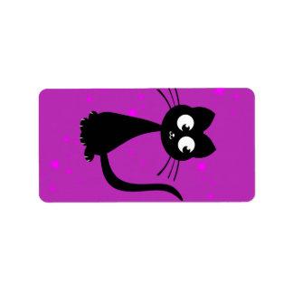 Kitty Kuro Custom Address Label
