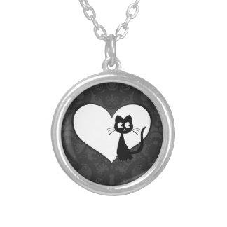 Kitty Kuro Love I Silver Plated Necklace
