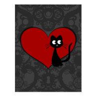 Kitty Kuro Love II Post Cards