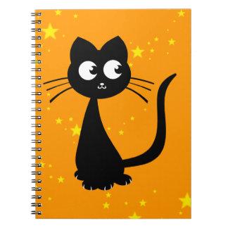 Kitty Kuro Spiral Notebook