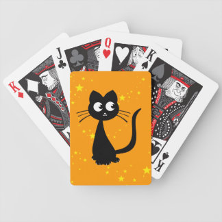 Kitty Kuro Orange Bicycle Playing Cards