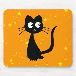 Kitty Kuro Orange Mouse Pad
