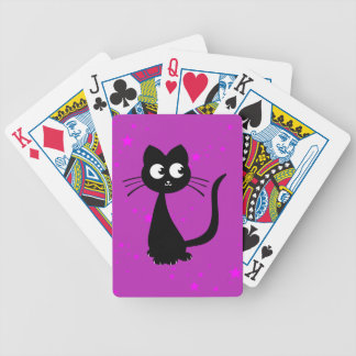 Kitty Kuro Purple Bicycle Playing Cards
