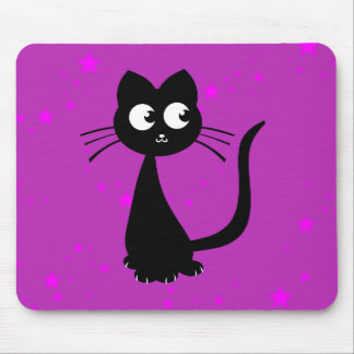 Kitty Kuro Purple Mouse Pad