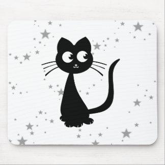 Kitty Kuro White Mouse Pad