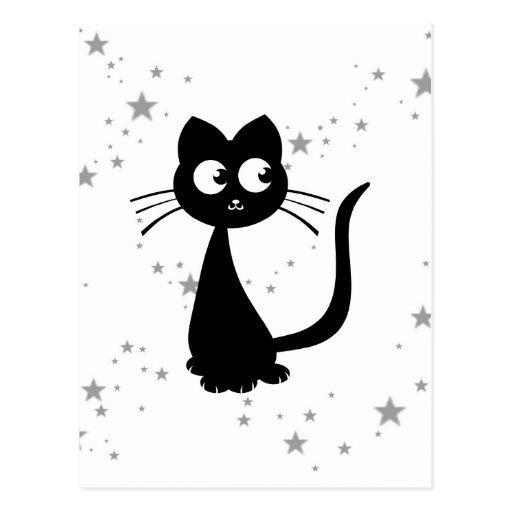 Kitty Kuro White Postcard