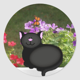 Kitty Life Classic Round Sticker