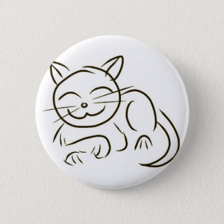 Kitty Line Drawing Pinback Button