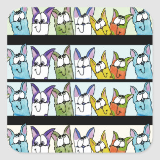 Kitty Lineup-Colorful Cats Sticker